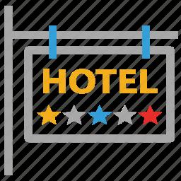 hotel, hotel sign, hotel signboard, signboard icon
