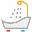 bath, bathroom, bathtub, bathtub shower icon