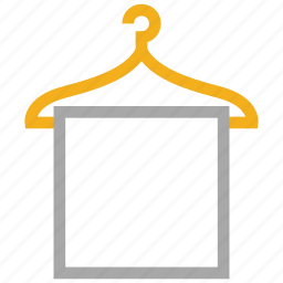 bath, towel, towel hanger, towel on hanger icon