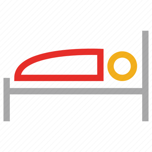 bed, furniture, single bed, sleep icon