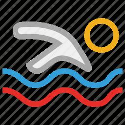 pool, swimmer, swimming, swimming pool icon