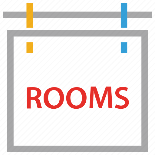 information, room sign, rooms, signboard icon