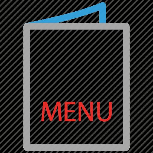 bill of fare, carte du jour, menu, menu du jour icon