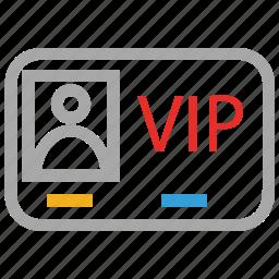 access, privileges, vip, vip card icon
