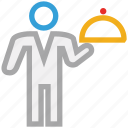 food serving, hotel, hotel service, waiter icon
