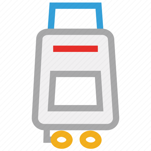 luggage, suitcase, suitcase with wheel, travel suitcase icon