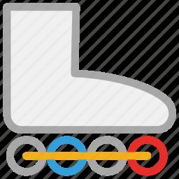 inline skates, skates, sportive boot, sports shoes icon