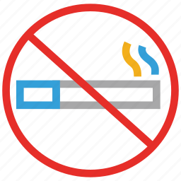 cigarette, forbidden, smoking, warning icon