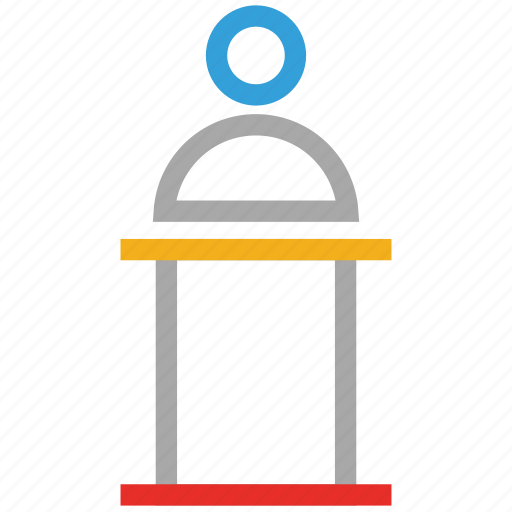 lecture, podium, presentation, speech desk icon