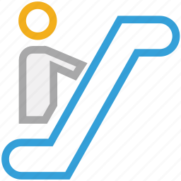 automated stairs, escalator, staircase, stairs icon