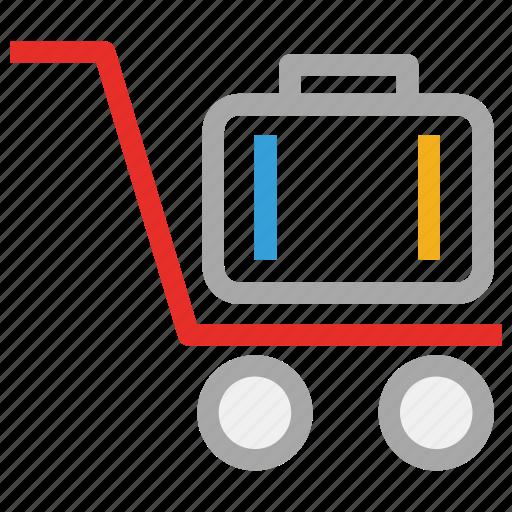 hand truck, luggage cart, luggage trolley, platform truck icon