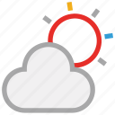cloud, forecast, sun, weather icon