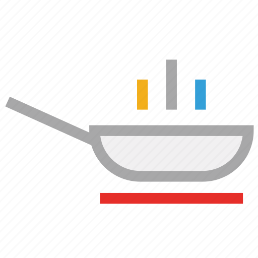 cooking pan, fry pan, frying pan, griddle icon