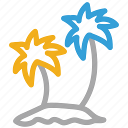 nature, palm trees, tropical trees, tropical vacations icon