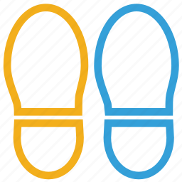 foot steps, human, slippers, steps icon