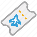 air plane ticket, flight ticket, ticket icon