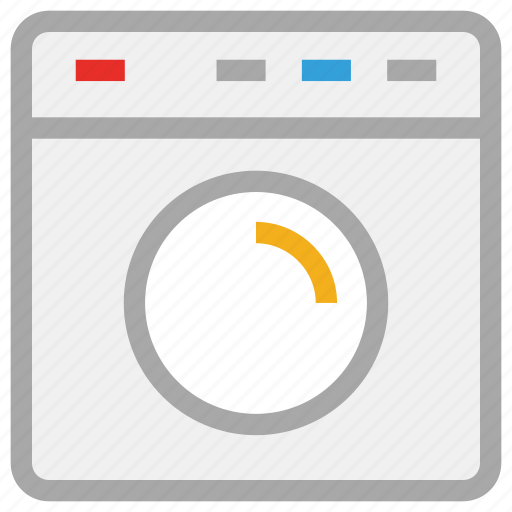 laundry machine, machine, washing, washing machine icon