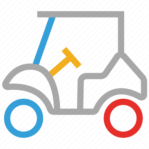 electric cart, golf cart icon
