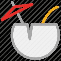 coconut, coconut drink icon