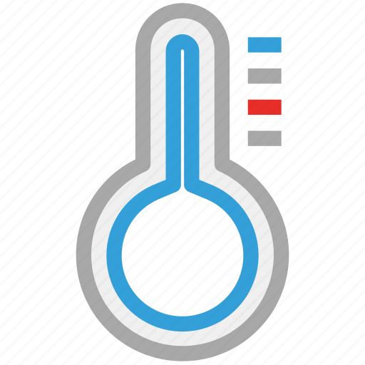 cold, hot, temperature, thermometer icon