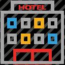 building, hotel icon