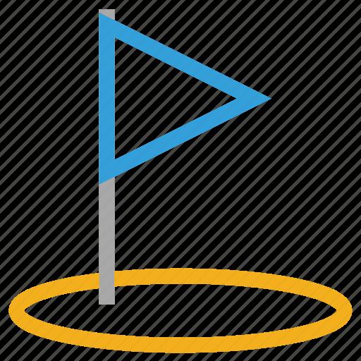 golf circle, golf club, golf flag, sports icon