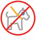 animal, animals, no pets sign, not allowed icon