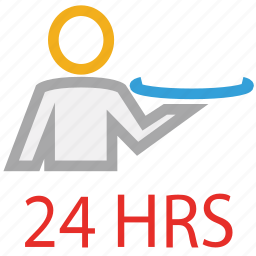 food serving, hotel, twenty hours service, waiter service icon