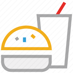 burger, drink, fast food, junk food icon