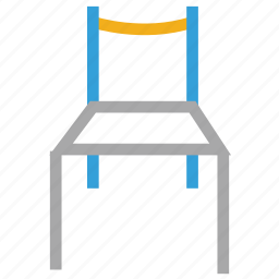 chair, furniture, seat, wooden chair icon