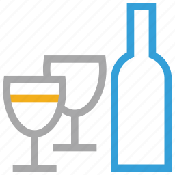 beer, bottle, glasses, wine icon