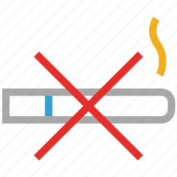 cigarette, forbidden, smoking, warning icon