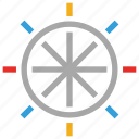 boat controller, boat steering, steering wheel, wheel icon