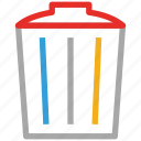 dust bin, garbage container, recycle bin, trash icon