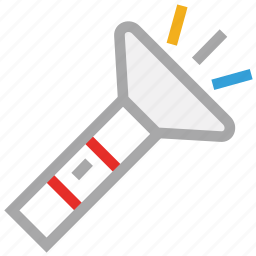 flashlight torch, pocket torch, torch, torch light icon