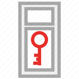 door key, key, key sign, security sign icon