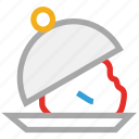covered food, food serving, hotel, restaurant icon