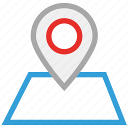 gps, map, navigation, pin icon