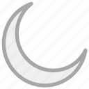 crescent, lunar, moon, night icon