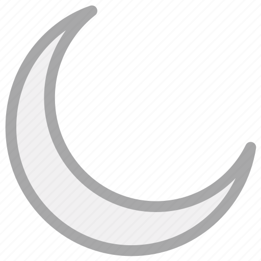 crescent, lunar, moon, night icon