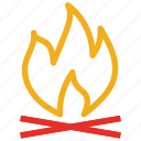 fire, fire flame, hot, warm icon
