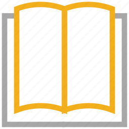 blank pages, book, open book, reading icon