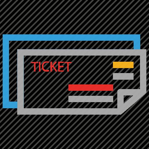 cinema, movie, ticket icon