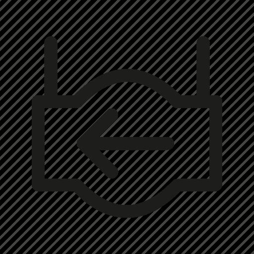 arrow, index, left, pointer, sign icon