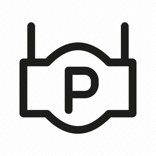index, parking, pointer, sign icon