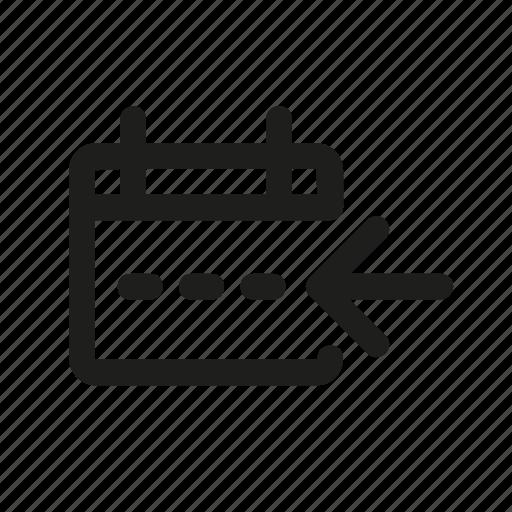 arrow, left, lines, race, square icon