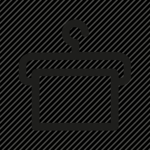 clothes, hanger, iron, ironing, rack icon