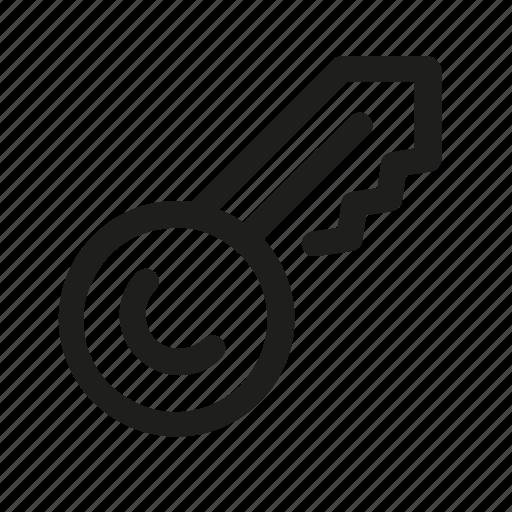 key, lock, open, password icon