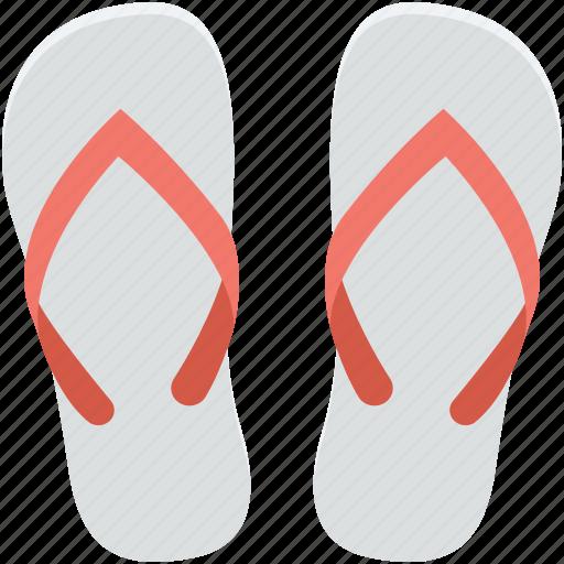 beach sandals, flip flops, footwear, slippers, thongs slippers icon