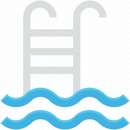 pool ladders, pool stairs, pool steps, swimming, swimming pool icon